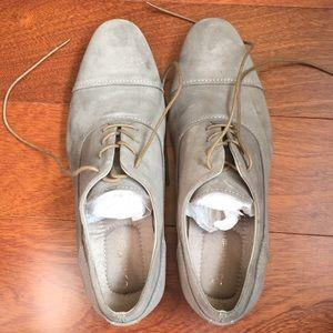 Calvin Klein grey suede oxford shoes